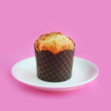Muffin on a pink background Stock Photo