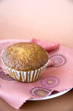 Muffin on pink Royalty Free Stock Photo