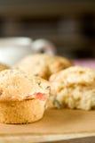 muffin pistacji rabarbar Zdjęcia Stock