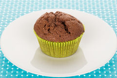Muffin on plate Stock Photo
