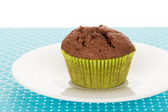 Muffin on plate Stock Image