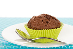 Muffin on plate Stock Photography