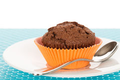 Muffin on plate Stock Images