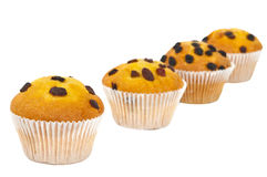 Muffin with raisins isolated Royalty Free Stock Images