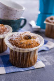 Muffin with raisins Royalty Free Stock Image