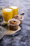 Muffin with raisins Stock Images