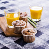 Muffin with raisins Royalty Free Stock Photography
