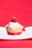 Muffin with raspberries Stock Images