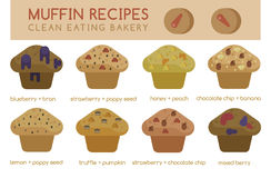 Muffin recipes clean eating bakery Royalty Free Stock Photos