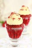 Muffin-Rot-Samt. Stockfotografie
