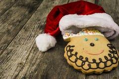 Muffin Santa Claus Arkivfoto