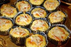 Muffin saporiti della pizza Fotografie Stock