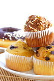 Muffin Series 02. Different favor baked muffin and Donuts stock images