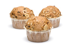 Muffin Series 2. Delicious homemade muffins in white background Royalty Free Stock Images