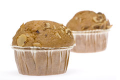 Muffin Series 4. Delicious homemade muffins in white background Royalty Free Stock Images