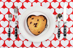 Muffin in shape of heart Stock Photo