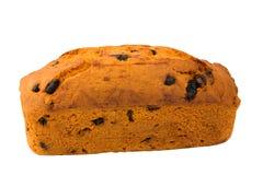 Muffin som bakar det hemlagade russinet som isoleras på den suddiga selektiva fokusen för vit bakgrund Royaltyfria Foton