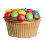 Muffin som isoleras på vit, är små kakor Fotografering för Bildbyråer