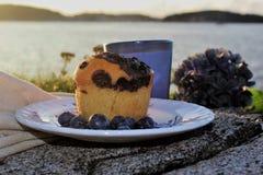Muffin, Stein Stockfoto