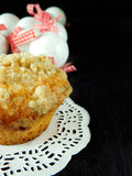 Muffin with streusel Royalty Free Stock Photo