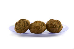 Muffin su backgraund bianco immagini stock