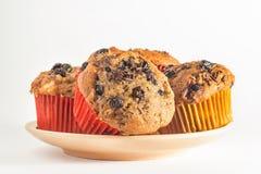 Muffin su un piatto Fotografia Stock Libera da Diritti