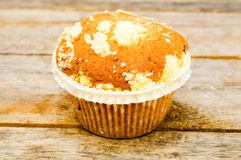 Muffin on a table Royalty Free Stock Photos