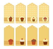 Muffin tags collection Royalty Free Stock Image