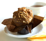 Muffin for tea royalty free stock photo