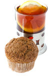 Muffin with tea Royalty Free Stock Photo