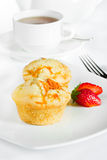 Muffin and tea Royalty Free Stock Photos