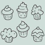 muffin tecknad handset Fotografering för Bildbyråer