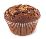 Muffin topped with nuts Stock Image
