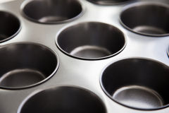 Muffin tray Stock Photo