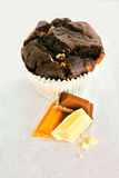 Muffin triplo del cioccolato Fotografia Stock Libera da Diritti