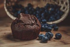 Muffin und Blaubeere Lizenzfreie Stockfotografie