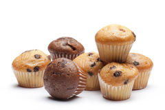 Muffin. A variety of little muffin on white background royalty free stock image