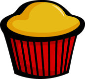 Muffin vector illustration. Vector illustration of a muffin Stock Image