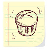 Muffin. Vector illustration of muffin in doodle style Stock Photography