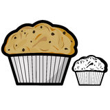 Muffin. Vector illustration : Muffin on a white background royalty free illustration