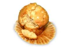 Muffin With Bite Royalty Free Stock Photo