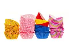 Muffinbakningen kuper Fotografering för Bildbyråer