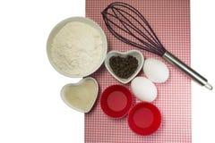 Muffinbestandteile Stockfotografie