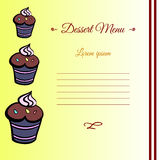 MuffinCard2. Template for your dessert menu. Vector illustration. 10EPS Stock Photography