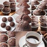 Muffincollage stockbilder