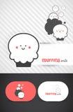 muffindesignlogo Royaltyfri Bild