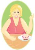 muffinen bantar äta fett ingen kvinna Royaltyfri Bild