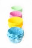 muffinen cups muffinen Royaltyfria Bilder