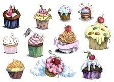 muffiner royaltyfri illustrationer
