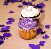 muffiner för blåbärchokladpar Arkivfoton